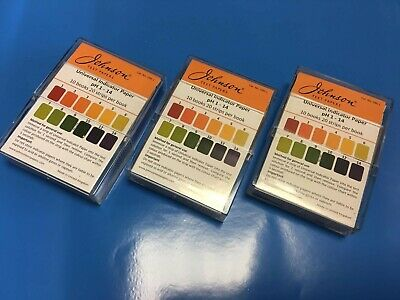 Universal pH Indicator Paper Test Strips; 1 to 14 pH ; 200 Strips in a tidy case