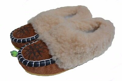 womens ladies natural leather slippers moccasins all size 2/3/ 4 /5 /6/ 6.5 / 7