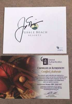 Jack Nicklaus Autographed Pebble Beach Golf Card - Certified Authentic