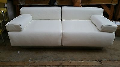 Exceedingly Rare 70's Harvey Probber Leather & Chrome 2 Seater Sofa Restored