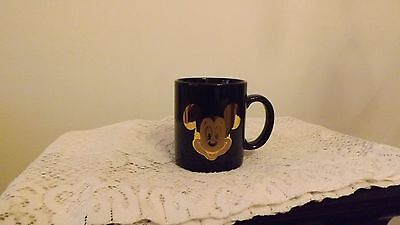 Collectable  Disney Mickey Mouse Coffee Cup Mug Black with Gold Face EUC
