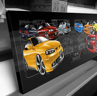 Hsv Holden Special Vehicles  Stretched Canvas Compilation  Stomp Impressions Art