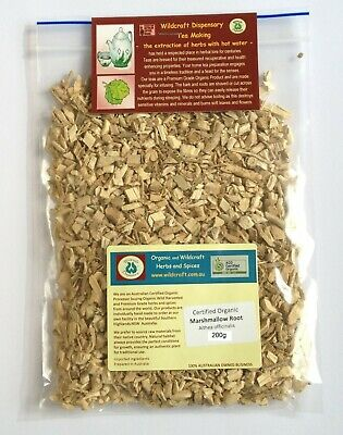 MARSHMALLOW ROOT 50g Certified Organic Althea officinalis Herbal Tea dried herb