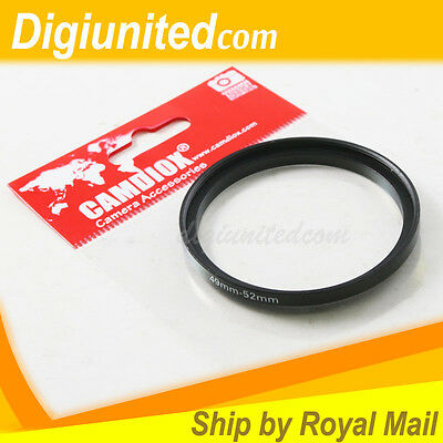 Camdiox 49mm to 52mm 49-52 Lens Filter Step Up Adapter Ring for SLR DSLR Camera