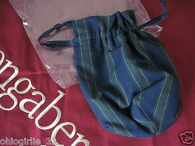 Longaberger~ 2004 Collector's Club Renewel Stripe Drawstring Liner Pouch