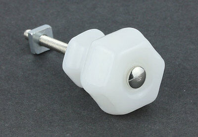 "Antique Milk White Glass Drawer Pull Knob Handle { 1.25"" & 1.5"" Dia } by PLD"
