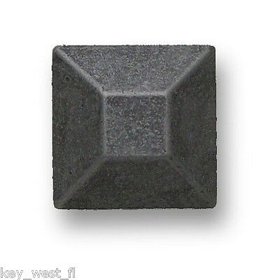 "Black Square Mission Style Metal Cabinet Drawer Pull Knob { 1"" x 1""} by PLD"