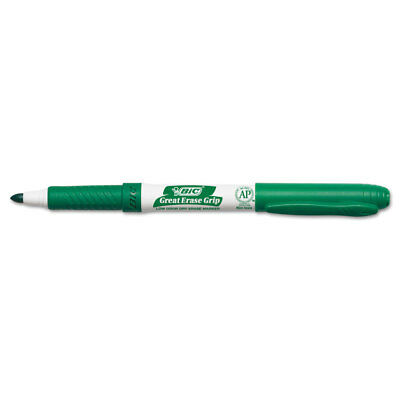 Great Erase Grip Fine Point Dry Erase Marker, Green, Dozen