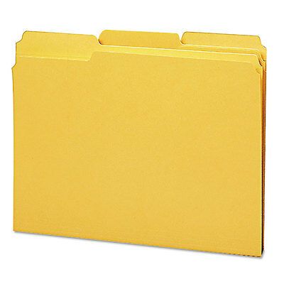 File Folders, 1/3 Cut, Reinforced Top Tab, Letter, Goldenrod, 100/Box