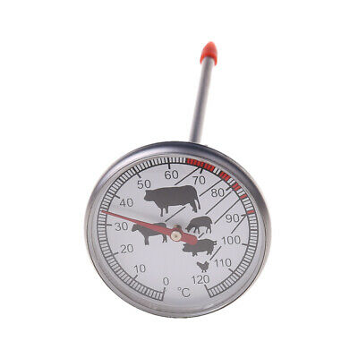 Stainless Steel Instant Read Probe Thermometer BBQ Food Cooking Meat Gauge New