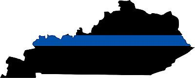 """Thin Blue Line State of Kentucky Decal-5""""x2"""" REFLECTIVE Exterior window Decal"""