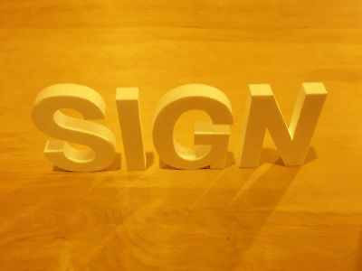 15 inch Foam sign letters for walls, buildings, crafts etc.
