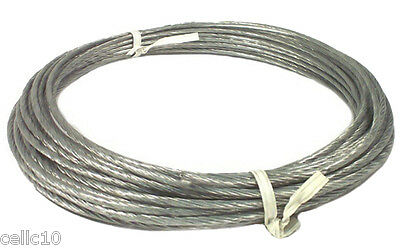 250' of 6/20 Plastic Coated Guy Wire for Antenna Mast - 20 Gauge - Down Guy