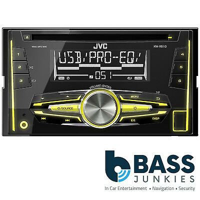 JVC KW-R510 Car Stereo Radio Double Din USB AUX In Bluetooth Android CD Player