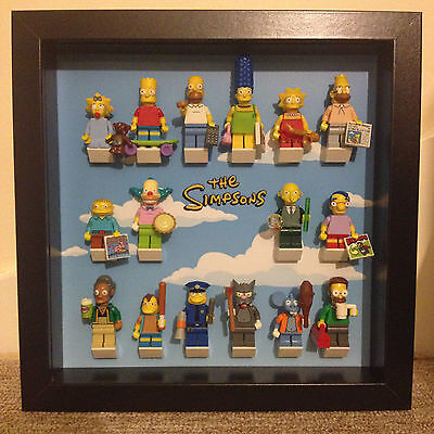 Lego Simpsons Yellow Script Minifig Display Frames Cases