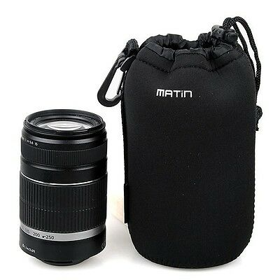 Large Waterproof Neoprene Soft Camera Lens Pouch bag Protector Case-Size: L