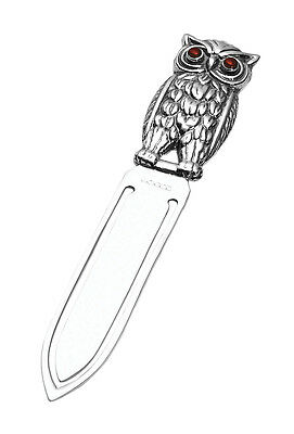 Solid Silver Owl Bookmark / Book Mark By Carrs (Bnib)