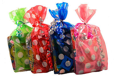 Childrens Pre Filled Spotty Party Bags For Birthdays, Weddings, Reward Bags