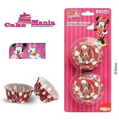 50 Pirottini Minnie Disney Cupcake Muffin In Carta Da Forno Cakedesign Cakemania