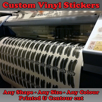 Personalized Custom printed vinyl stickers decals labels Cut Any Shape Size