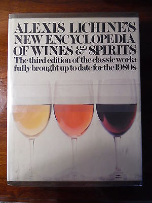 ALEXIS LICHINE'S NEW ENCYCLOPEDIA OF WINES & SPIRITS 1981 w MAPS BORDEAUX GERMAN