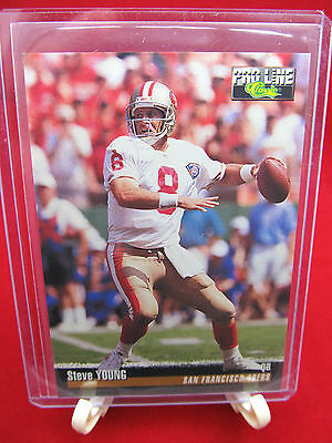 1995 Pro Line Steve Young Classic Football Card (#197) San Francisco 49ers *HOF