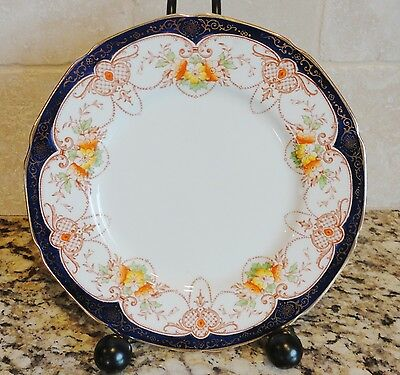 """WH W.H. Grindley Co England THE CORONA 8 3/4"""" Luncheon or Salad / Dessert Plate"""