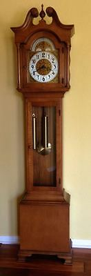 Vintage 1960 Colonial Mfg. Co. Grandfather Clock. Model number 1688. Runs great.