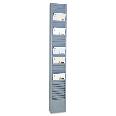 40-Pocket Steel Swipe Card/Badge Rack, 2-15/16'' x 18-11/16''