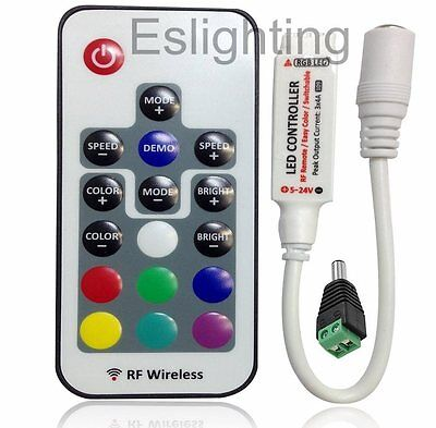 Rf Wireless Rgb Led Strip Light 5050 Remote Dimmer Controller Connectors