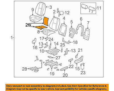 GM OEM Seat Heater-Element 20792749 - Back Cushion w/out Heat/Cool Seats