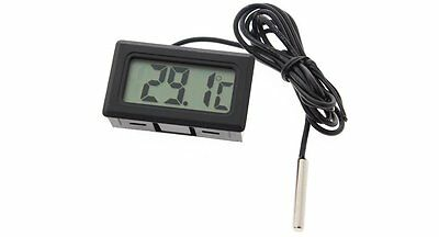 Black Digital Display LCD Temperature Tester Thermometer Kitchen