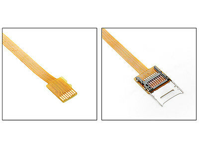 Micro SD TF Memory Card Kit Male to Female Extension Flat FPC Cable Extender