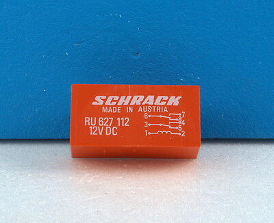 1Pcs Reed Relays Schrack Ru 627112 12V Coil Two Change - Over Contacts Very Rare