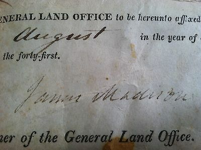 100% AUTHENTIC SIGNED Presidential Document 8/3/1816 - President James Madison