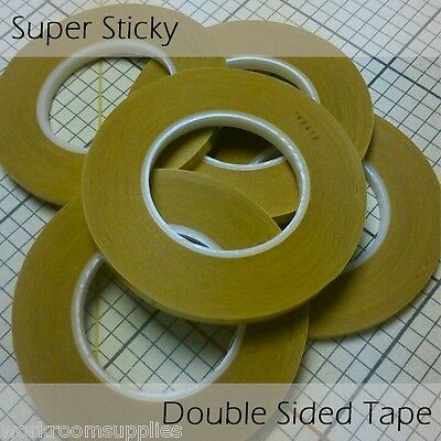 PACK OF 10 - 6mm Super Sticky Double Sided Tape 50m - Curtain Maker's Secret
