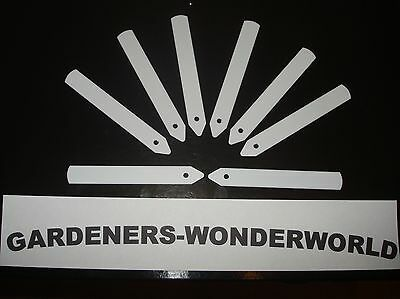 """50 WHITE PLANT/SEED LABELS 4"""" 5"""" 6"""" or 8"""" INCH RIGID PLASTIC LABELS *NEW*"""