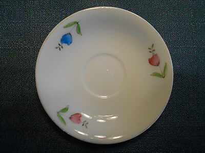 """1 """"Made in Occupied Japan"""" 4-7/8"""" Saucer with 3 Flowers"""