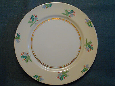 """UCAGCO China (Occupied Japan), 10"""" Plate w/Red Berries & Leaves"""