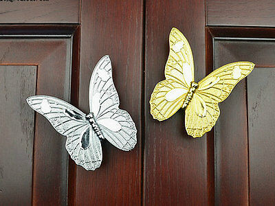 """1.25"""" Butterfly Drawer Pull Handles Cabinet Handle Gold Silver Antique Bronze 32"""