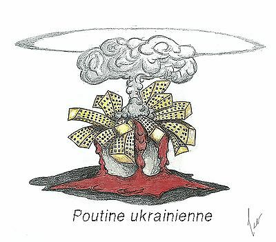 Caricatures M.Publishings - Poutine ukrainienne