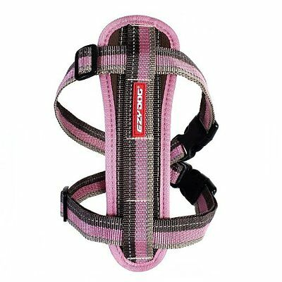 Ezydog Chest Plate Dog Harness - Medium Pink - Supplied With Car Seat Belt Loop