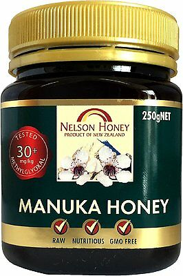 Nelson Honey Manuka Honey 30miligram/kg of methylglyoxal 250 Grams