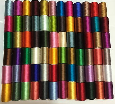 100 x Large Art Silk Rayon 100% Sewing Embroidery Threads Quality Solid Colours