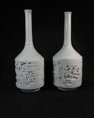 Beautiful antique Chinese Wang Bing Rong marked vases