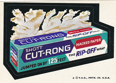 1974 WACKY PACKAGES ORIGINAL 6TH SERIES **CUT-WRONG HACKED PAPER** STICKER