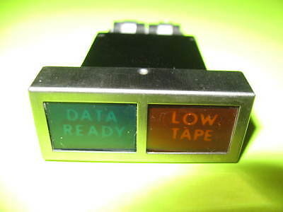 "Vintage Combination ""DATA READY"" &  ""LOW TAPE""  Indicator Light RARE !"