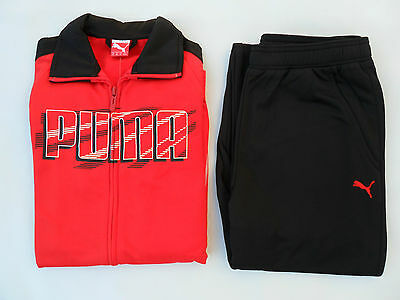 Boys tracksuit Puma 'Graphic Poly' sweat top jogging bottoms pants 10,12,14