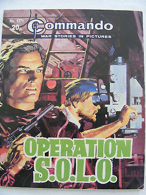"""Commando Comic War Stories In Pictures # 1771  """"operation Solo"""""""