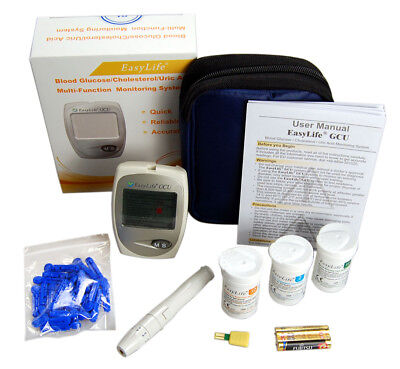 Gout Test Kit Easy Life Uric Acid Glucose, & Cholesterol digital meter test kit